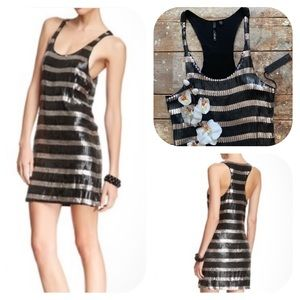 Joe's Jeans Ruby Sequin Stripe Racerback Dress